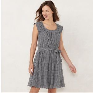 Lauren Conrad Pleat Neck Dress